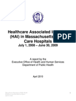 Healthcare Associated Infection (Mass.)
