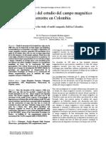 Antecedentes del campo magnético terrestre en colombia