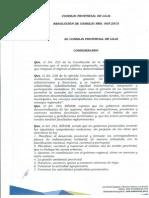 Resolución de consejo 005-2015
