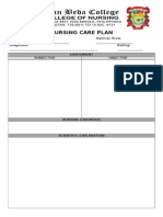 Nursing Care Plan