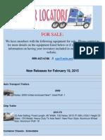New Release - February 19, 2015