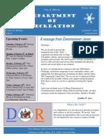 Recreation Dept Winter 2015 Newsletter Final