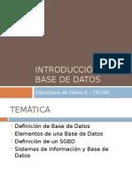 IntroducciónBaseDatos
