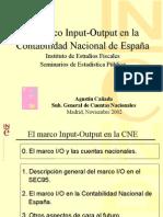 El Marco Input-Output en La Contabilidad Nacional de España