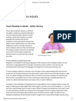Adult Literacy - Teach Reading to Adults