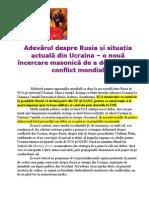 Propaganda rusa despre Rusia - Ucraina.doc