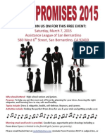 prom promises flyer and registration form
