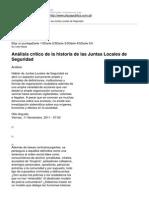 Plaza Publica - Analisis Critico de La Historia de Las Juntas Locales de Seguridad - 2011-11-11