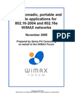 Applications for 802.16-2004 and 802.16e WiMAX Networks Final
