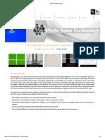 Phyto Nanotechnology