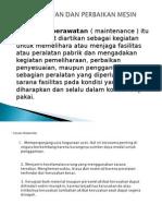 2d Ppt Perawatan Dan Perbaikan Mesin