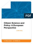 Citizen Science and Policy