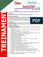 Prog Treinamento AutoCAD 2012 2D 3D