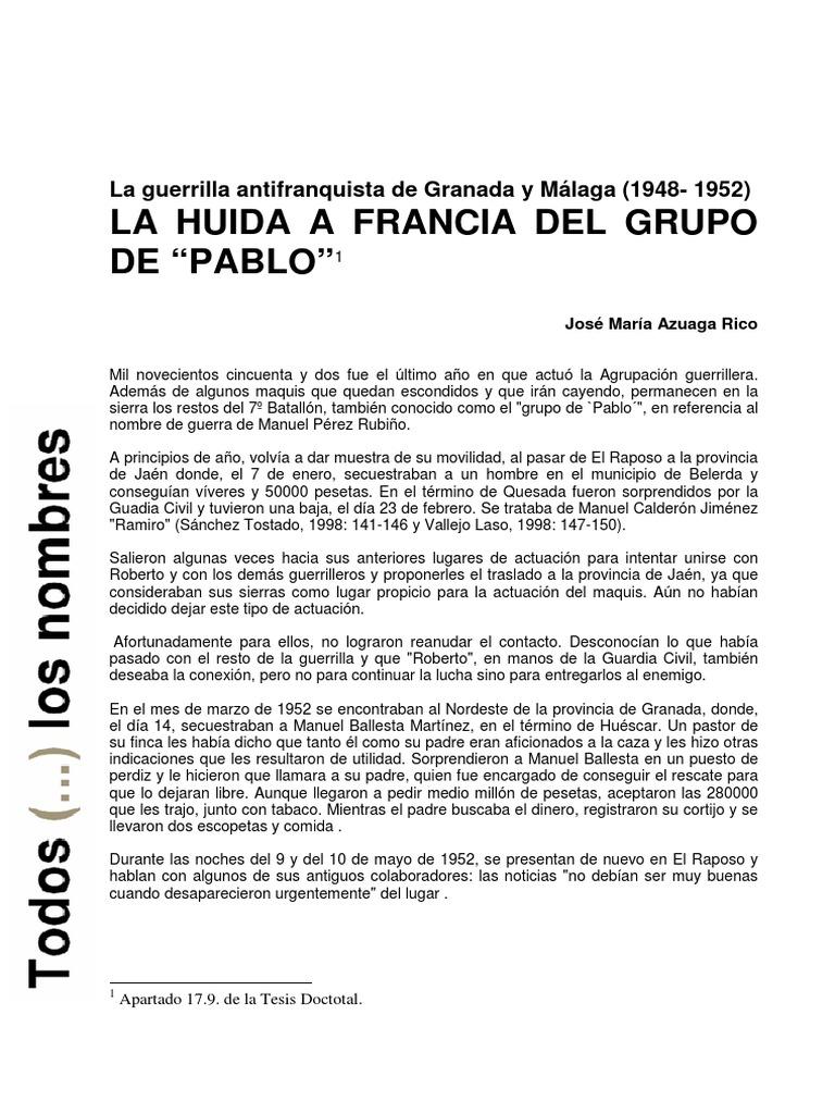 Guerrilla Antifranquista Mala y Grana