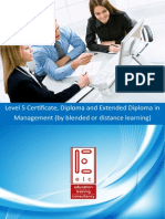 ATHE Level 5 Certificate Diploma Extended Diploma in Management