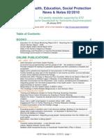 Health, Education, Social Protection News & Notes 02/2010