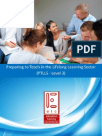 OCR PTLLS Level 3 Preparing to Teach in the Lifelong Learning Sector Teaching and Training Course
