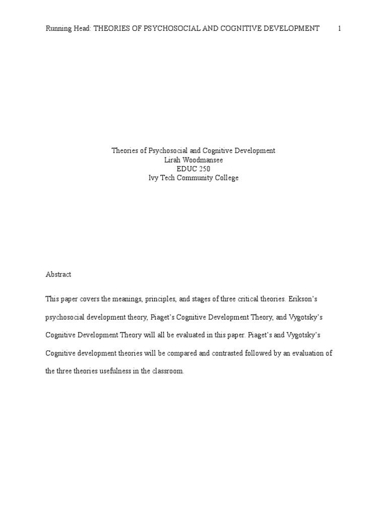 piaget psychosocial development