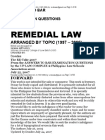 Remedial Law Suggested Answers (1997-2006), Word