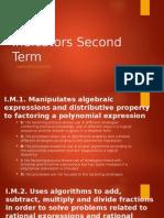 indicators second term