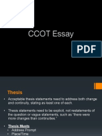 ccot essay structure & thesis