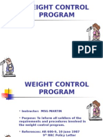 Army Weight Control Program