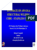 Campbell AnUpdateonAWSD16StructuralWeldingCode Stainless Steel