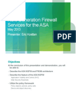Next Generation Firewall Services for the Asa Eric Kostlan