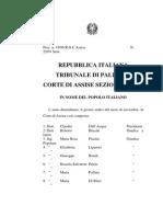 MAFIA PROCESSOGALATOLO MANISCALCO OMICIDIO D'ALEO BOMMARITO MORICI