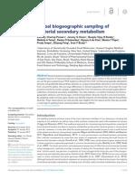 Global Biogeographic Sampling of Bacterial Secondary Metabolism