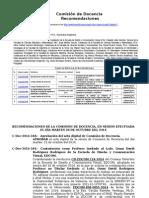 25.- Recomendaciones de La Comisión de Docencia Del 28 de Octubre Del 2014