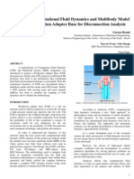 Integrating Computational Fluid Dynamics and Multibody Model of an Oil Production Adapter Base for Disconnection Analysis