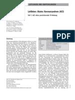 2004 Leitlinie Akutes Koronarsyndrom ACS Teil 1 Ohne ST-Hebung