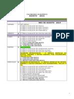 Calendario Academico Agosto y Septiembre Año 2014 e. Basi CA y Media