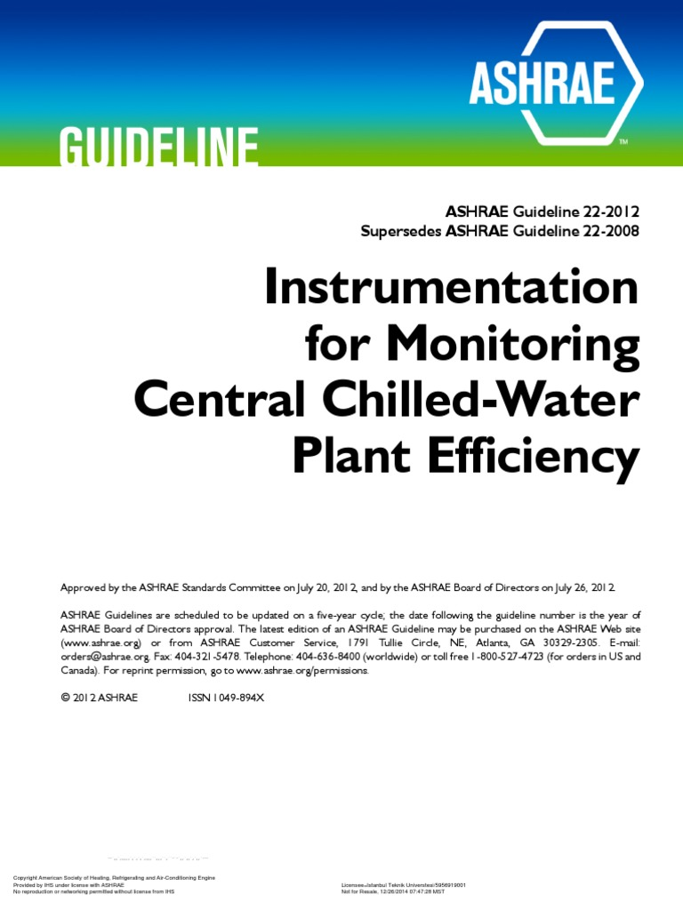 Instrumentation for Monitoring Central Chilled-Water Plant