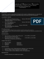 Engineer's CV with Black Background