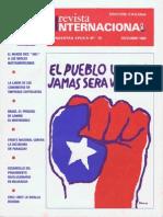 Revista Internacional - Nuestra Epoca N°10 - octubre 1983 - Edición Chilena