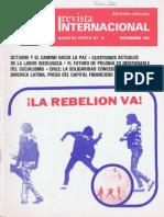 Revista Internacional - Nuestra Epoca N°11 - noviembre 1983 - Edición Chilena