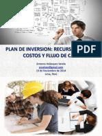 Plan de Inversión - Recursos Claves, Costos y Flujo de Caja