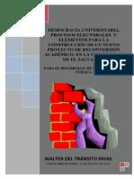 LA DEMOCRACIA UNIVERSITARIA, PROCESOS ELECTORALES Y EL PROYECTO ACADÉMICO.pdf