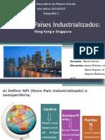 Os Novos Países Industrializados (Hong Kong e Singapura)