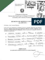 SANSONE TOLOMEO ARNONE MANISCALCO GELARDI PROC 2466 20211 4171 2013 GUP rinvio a giudizio 18_02_15