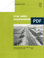 Crop Water Requirements Fao 24