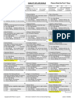 imhqolscale with sections divided for subtotals