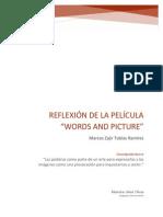Reflexión de La Película words and pictures