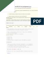 Proceso de Desarrollo de Un Programa