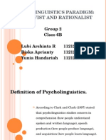 PPT Psycholinguistics Group 2, 6B