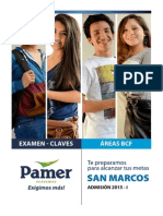 Claves - Examen San Marcos 2015 - i
