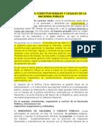 Fundamentos Constitucionales y Legales de La Hacienda Pública