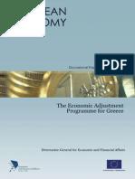 The Economic Adjustment Programme for Greece